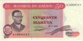 Zaire P.16c 50 Makuta 20.5.1978 (1-)