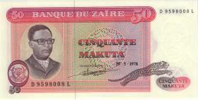 Zaire P.16c 50 Makuta 20.5.1978 (1)