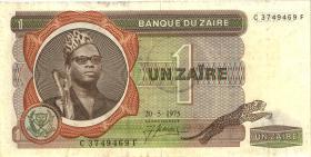 Zaire P.18a 1 Zaire 20.5.1975 (3+)