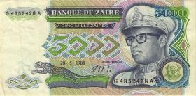 Zaire P.37a 5000 Zaires 1988 (3)