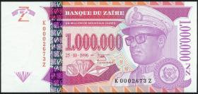 Zaire P.79r 1.000.000 Nouveau Zaires 1996 (1)