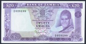 Sambia / Zambia P.13c 20 Kwacha (1969) (1/1-)