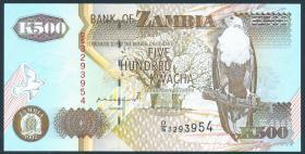 Sambia / Zambia P.39a 500 Kwacha 1992 (1)