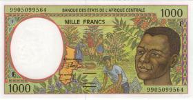 Zentral-Afrikanische-Staaten / Central African States P.302Ff 1000 Fr. 1999 (1)