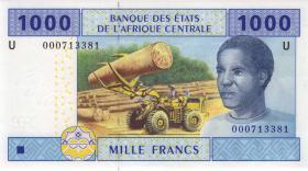 Zentral-Afrikanische-Staaten / Central African States P.207Ua 1000 Fr. 2002 (1)