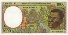 Zentral-Afrikanische-Staaten / Central African States P.402Lf 1000 Fr. 1999 (1)