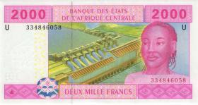 Zentral-Afrikanische-Staaten / Central African States P.208Uc 2000 Fr. 2002 (1)