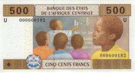 Zentral-Afrikanische-Staaten / Central African States P.206Ua 500 Fr. 2002 (1)