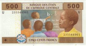 Zentral-Afrikanische-Staaten / Central African States P.206Ub 500 Fr. 2002 (1)
