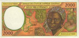 Zentral-Afrikanische-Staaten / Central African States P.403La 2000 Fr. 1993 (1-)