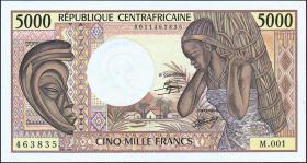 Zentralafrikanische Republik / Central African Republic P.012a 5000 Fr. 1984 (1)