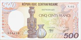 Zentralafrikanische Republik / Central African Republic P.014b 500 Fr. 1986 (1)