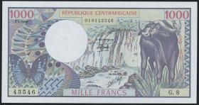 Zentral Afr. Republik/Central A. R. P.010 1000 Francs 1980 (1)