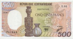 Zentralafrikanische Republik / Central African Republic P.014a 500 Fr. 1985 (1)