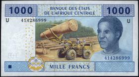 Kamerun / Cameroun P.207U 1000 Fr. 2002 (1)