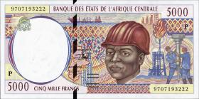 Zentral-Afrikanische-Staaten / Central African States P.604Pc 5000 Francs 1997 (1)