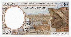 Äquatorial Guinea / Equatorial G. P.501Ng 500 Fr. (2000) (1)