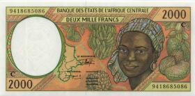 Zentral-Afrikanische-Staaten / Central African States P.103Cb 2000 Francs 1994 (1)