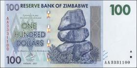 Zimbabwe P.69 100 Dollars 2007 (1)