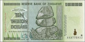 Zimbabwe P.88 10 Trillionen Dollars 2008 (1)