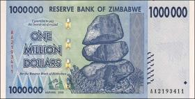Zimbabwe P.77 1.000.000 Dollars 2008 (1)