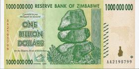 Zimbabwe P.83 1 Billion Dollars 2008 (1)