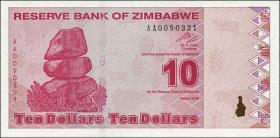 Zimbabwe P.94 10 Dollars 2009 (1)