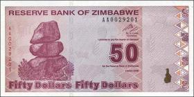 Zimbabwe P.96 50 Dollars 2009 (1)