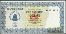 Zimbabwe P.21d 5000 Dollars 2003 (1)