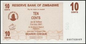 Zimbabwe P.35 10 Cents 2006 (1)