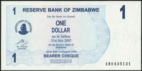 Zimbabwe P.37 1 Dollar 2006 (1)
