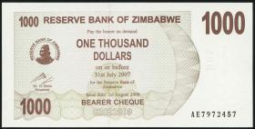 Zimbabwe P.44 1000 Dollar 2006 (1)