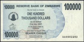 Zimbabwe P.48a 100.000 Dollar 2006 (1)