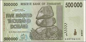 Zimbabwe P.76 500.000 Dollars 2008 (1)