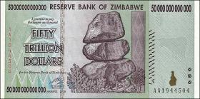 Zimbabwe P.90 50 Trillionen Dollars 2008 (1)