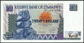 Zimbabwe P.07 20 Dollars 1997 (1)