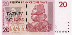 Zimbabwe P.68 20 Dollars 2007 (1)