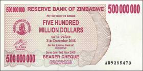 Zimbabwe P.60 500.000.000 Dollars 2008 (1)
