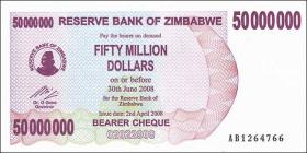 Zimbabwe P.57 50.000.000 Dollars 2008 (1)