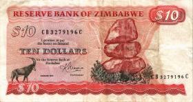 Zimbabwe P.03d 10 Dollars 1983 (4)
