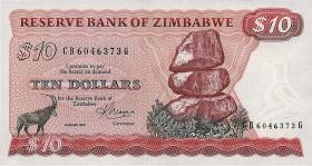 Zimbabwe P.03d 10 Dollars 1983 (1)