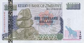 Zimbabwe P.12 1000 Dollars 2003 (1)