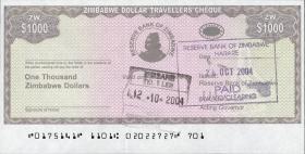 Zimbabwe P.15 1000 Dollars 2003 (1)