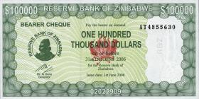 Zimbabwe P.32 100.000 Dollars 2006 (1)