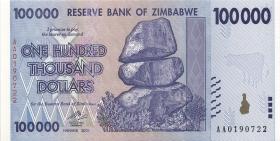 Zimbabwe P.75 100.000 Dollars 2008 (1)