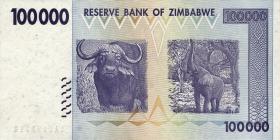 Zimbabwe P.75 100.000 Dollars 2008 Fehldruck (1)