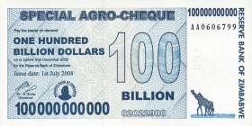 Zimbabwe P.64 100 Billion Dollars 2008 (1)
