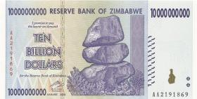 Zimbabwe P.85 10 Billion Dollars 2008 (1)