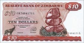Zimbabwe P.03e 10 Dollars 1994 (1)