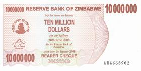Zimbabwe P.55a 10.000.000 Dollars 2008 (1)